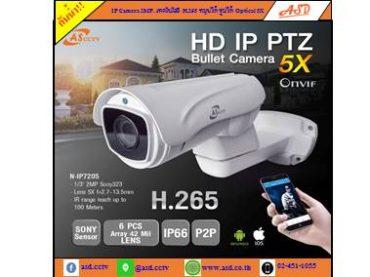 แนะนำสินค้าใหม่ กล้อง IP Camera ความละเอียด 2MP เทคโนโลยี H.265 หมุนได้ และ ซูมได้ Optical 5X รุ่น N-IP7205