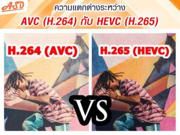 ความแตกต่างระหว่าง AVC (H.264) กับ HEVC (H.265)